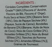 Jordan's Special Muesli 30% de fruits & noix - Ingrediënten