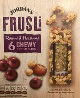 Frusli Raisins & Hazelnuts Chewy Cereal Bars 6 x (180g) - Produit - en