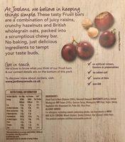 Jordans Frusli Juicy Raisin & Hazelnut Cereal Bar - Voedingswaarden