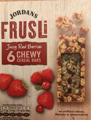 Jordans Frusli Juicy Red Berries Cereal Bar - Produit - en