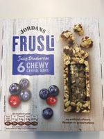 Frusli Juicy Blueberries Chewy Cereal Bars 6 x (180g) - Produit - en