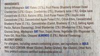 Frusli Juicy Blueberries Chewy Cereal Bars 6 x (180g) - Ingrédients - en