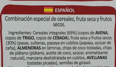 Muesli special cereales de desayuno con de frutas - Ingredientes - es
