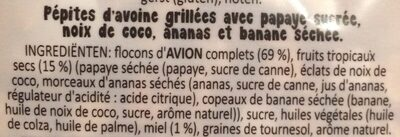 The Original Crunchy Tropical Fruits - Ingrédients - fr