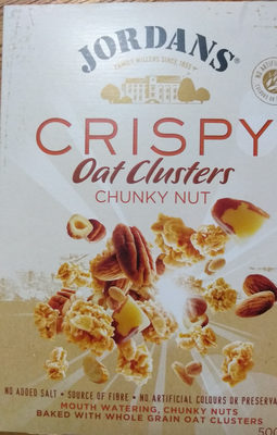 Jordan Oat Clusters Chunky Nut 500G - Product - fr
