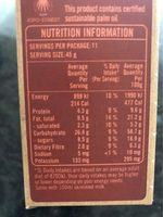 Jordan Oat Clusters Chunky Nut 500G - Voedingswaarden - fr