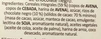 Crunchy muesli Dark Chocolate - Ingrédients - es