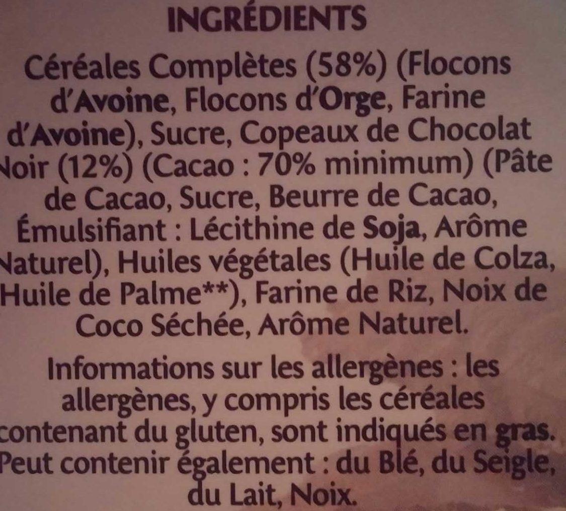 Country Crisp - Céréales complètes & chocolat noir - Ingrédients - fr
