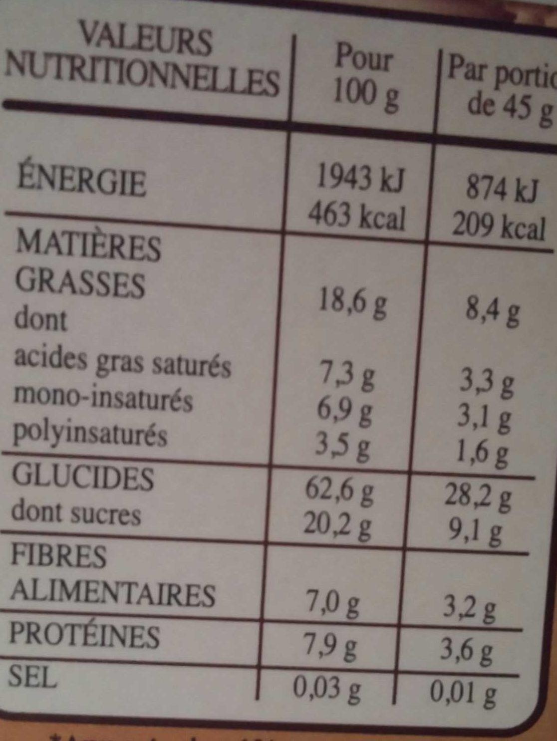 Country Crisp - Céréales complètes & chocolat noir - Informations nutritionnelles - fr