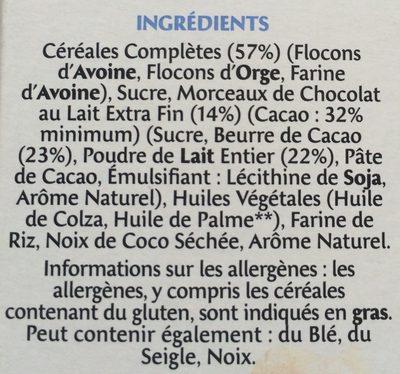 Country Crisp - Céréales complètes & chocolat au lait extra fin - Ingrédients - fr