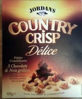 Country crisp délice - Pépites croustillantes - 3 chocolats & noix grillées - Produit - fr