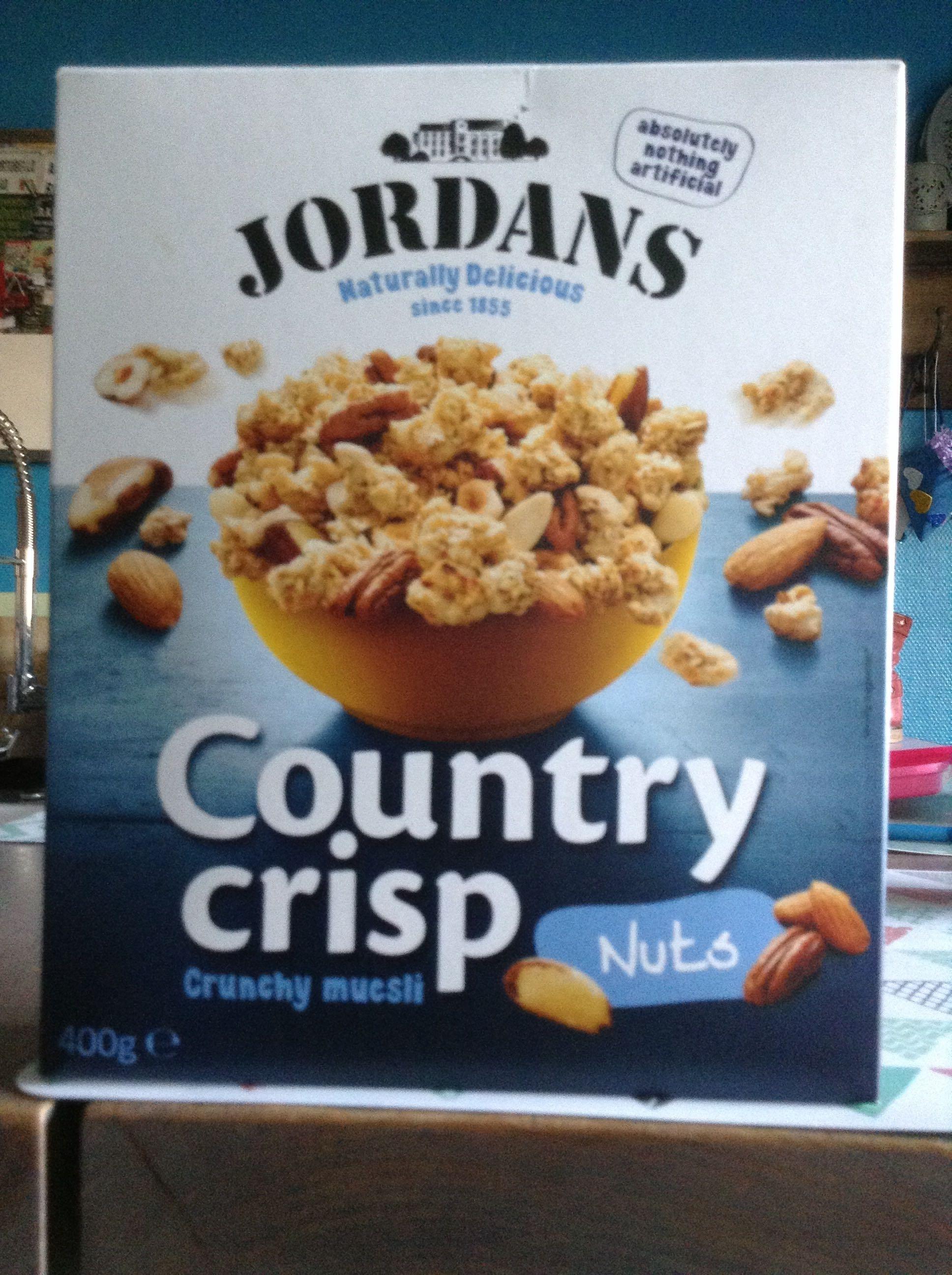 Country crisp cereales de desayuno con frutos secos - Product - fr