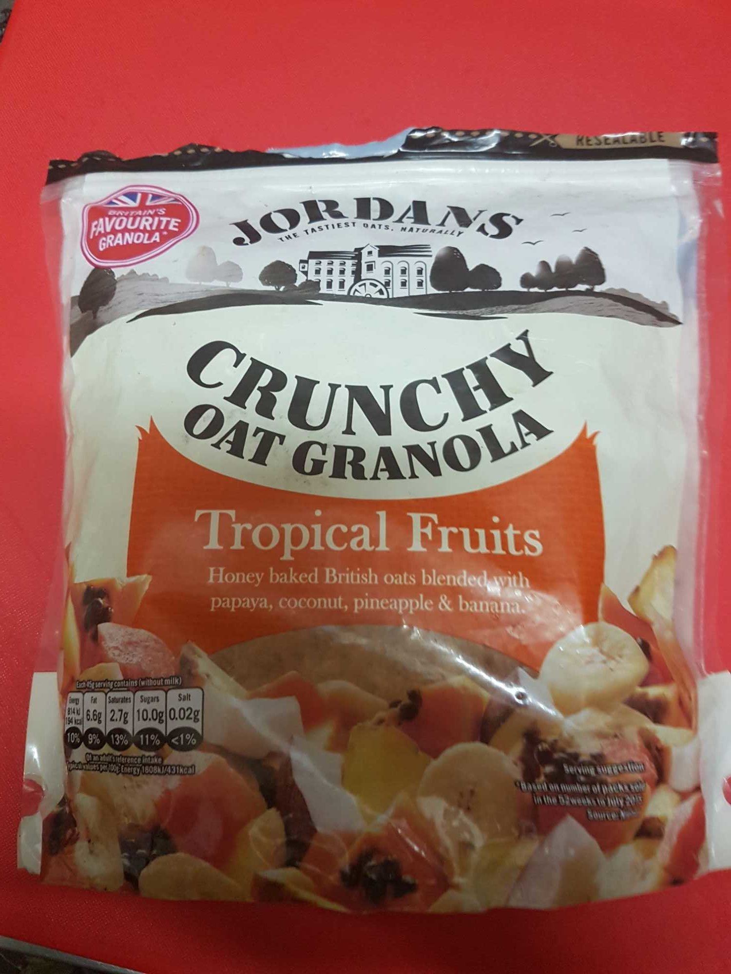 Crunchy Oat Granola Tropical Fruits-Jordans - Product - en