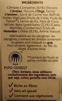 Country Crisp 3 Baies - Ingrédients - fr