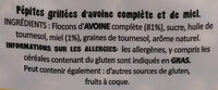 Simple Crunchy honey baked granola - Ingrédients - fr