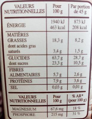 Country Crisp sirop d'érable et noix de pécan - Informations nutritionnelles - fr