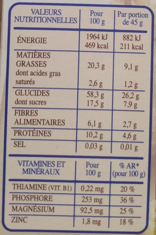 Country Crisp 4 Noix - Información nutricional - fr