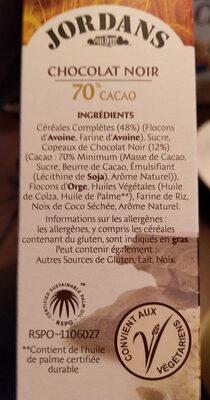 Country Crisp - Chocolat noir 70% cacao - Produit - fr