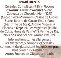 Country Crisp chocolat noir 70% - Ingredients - fr