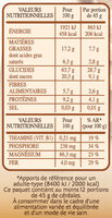 Country Crisp chocolat noir 70% - Nutrition facts - fr