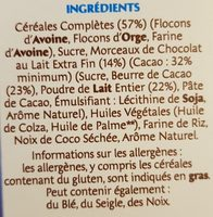 Country Crisp chocolat au lait - Ingrédients - fr