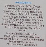 Country Crisp chocolat au lait - Ingredienti - fr