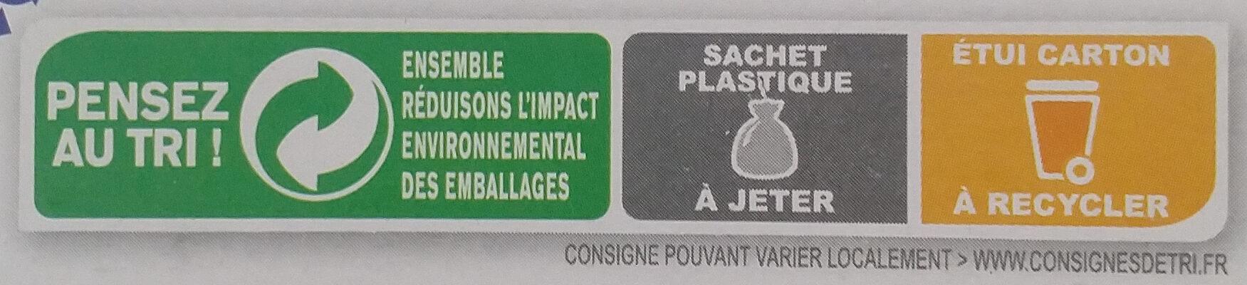 Country Crisp chocolat au lait - Istruzioni per il riciclaggio e/o informazioni sull'imballaggio - fr