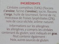 Country Crisp Fraises - Ingrédients - fr