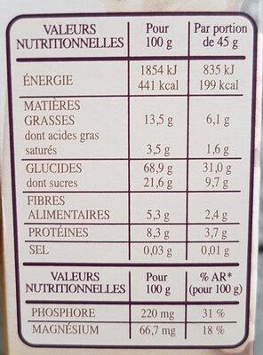 Country Crisp 3 Baies - Nutrition facts - en