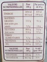 Country Crisp 3 Baies - Informations nutritionnelles