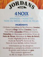 Jordan 4 noix - Ingrédients - fr