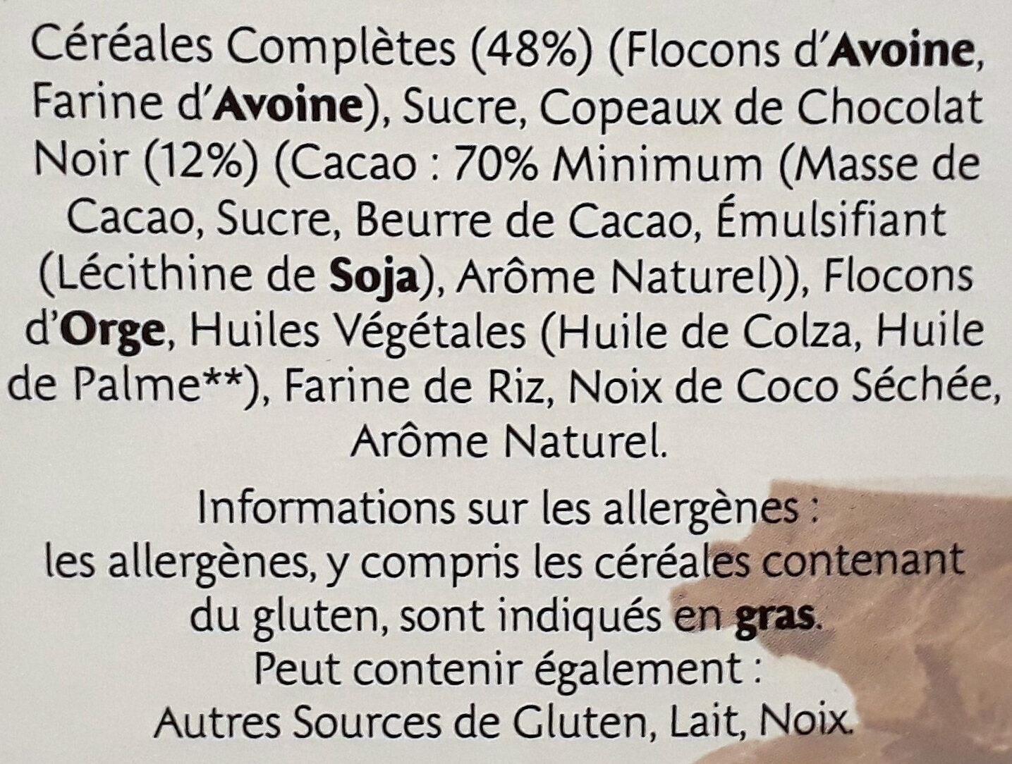 Country Crisp pépites croustillantes & chocolat Noir - Ingrédients - fr