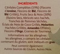 Muesli 30% fruits & noix céréales complètes - Ingredients