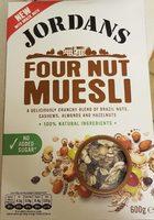 Four nut muesli - Produit - fr