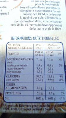 Frusli Myrtilles - Avoines complète - Source de fibres 6 barres généreuses - Informations nutritionnelles - fr