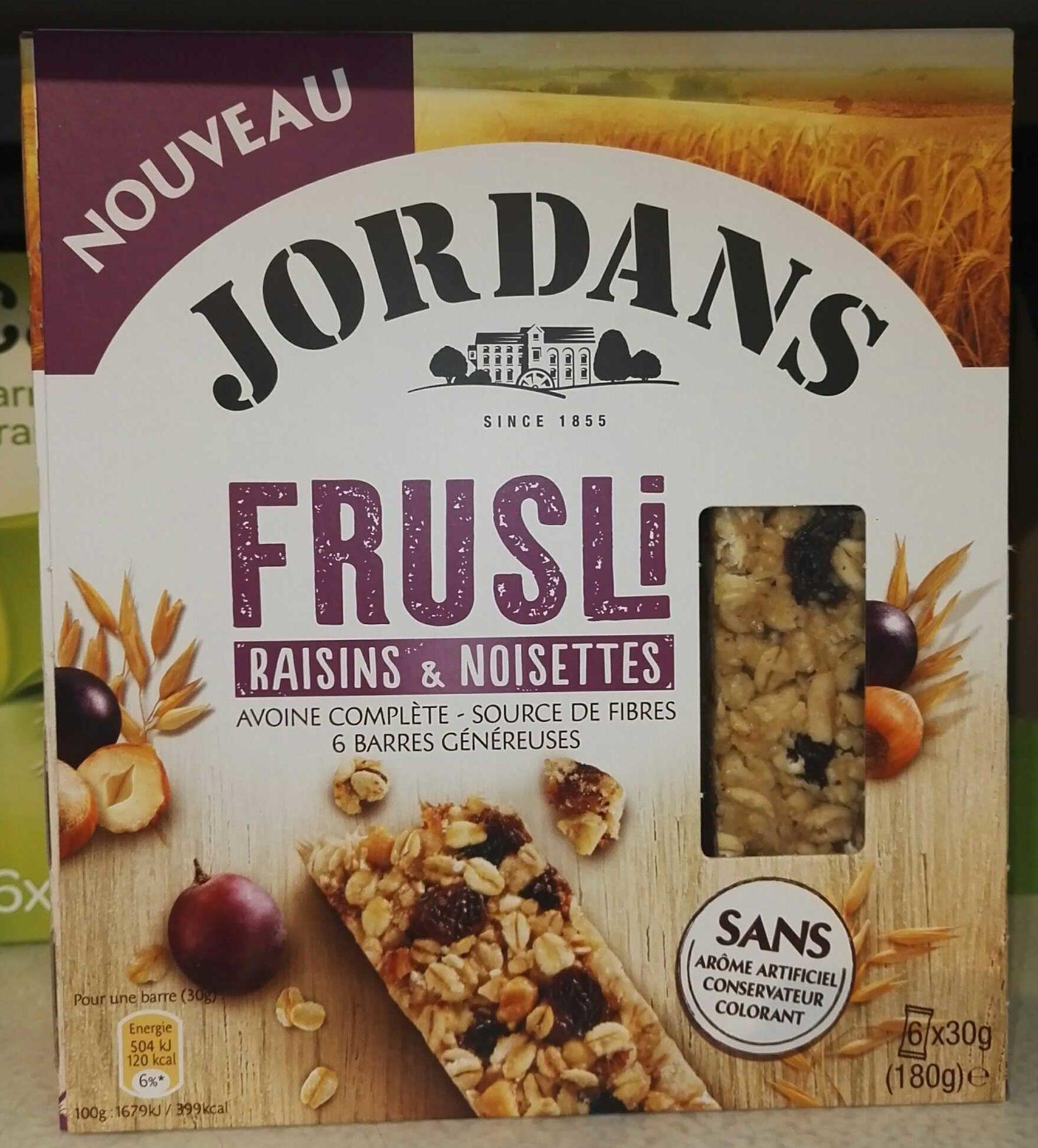 Frusli Raisins & Noisettes - Produit - fr