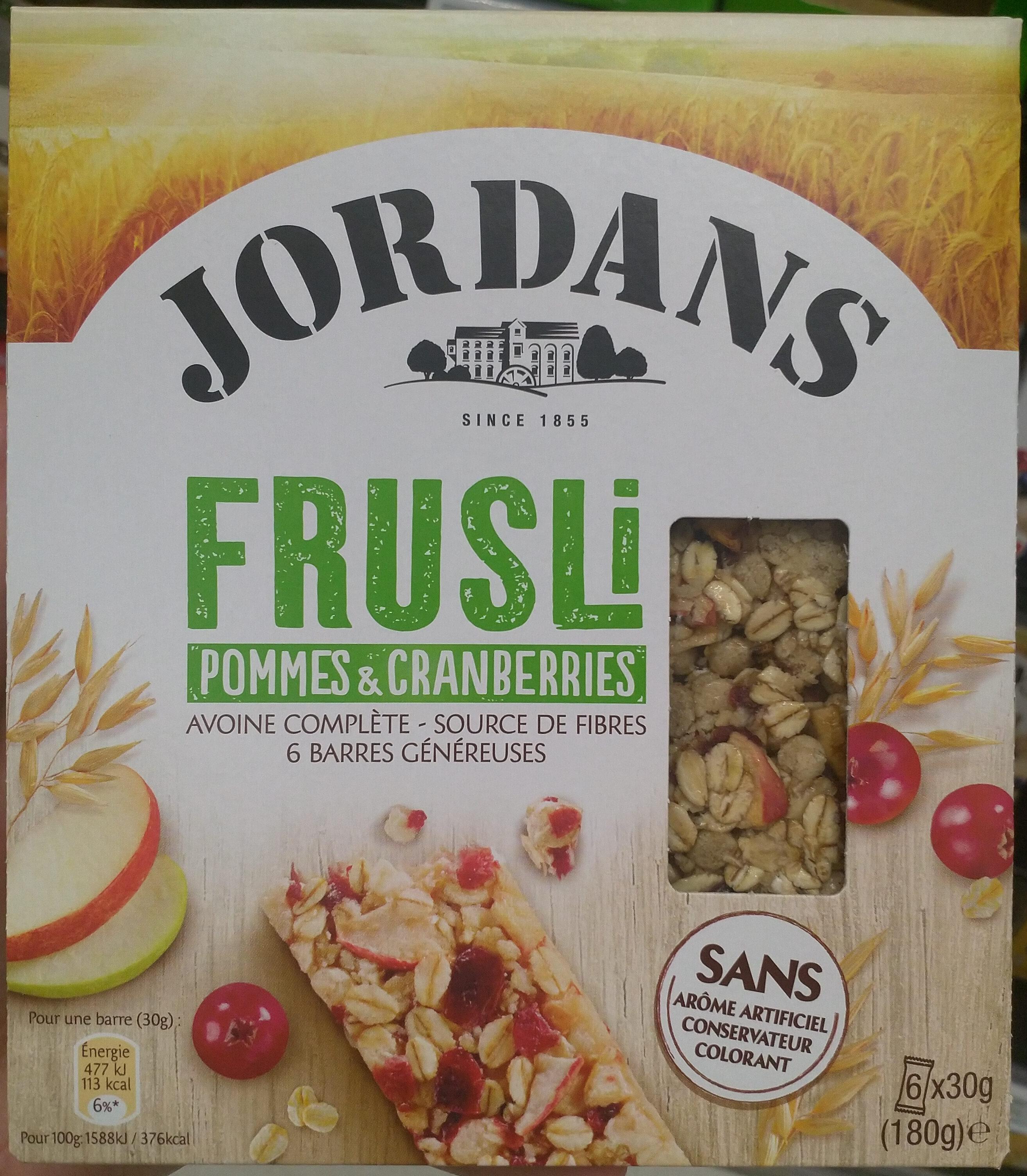 Frusli Pommes & Cranberries - Produit - fr