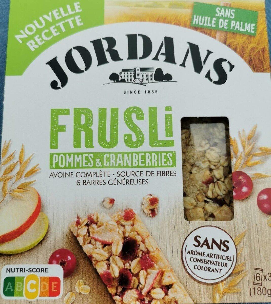 Frusli pommes & crandberries - Product - fr