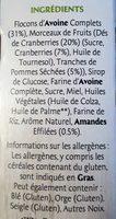 Frusli Pommes & Cranberries - Ingrédients - fr