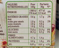 Frusli Pommes & Cranberries - Nutrition facts - fr