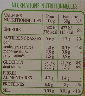 Frusli Pommes & Cranberries - Informations nutritionnelles - fr