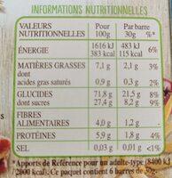 Frusli pommes & crandberries - Voedingswaarden - fr