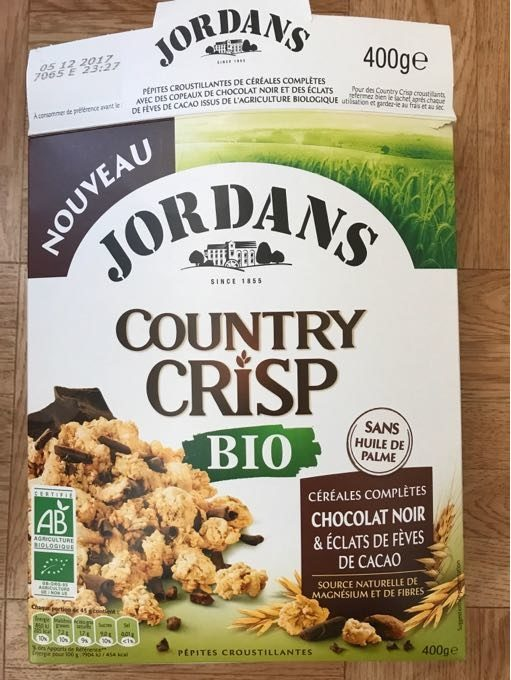 Country crisp bio Chocolat Noir - Product - fr