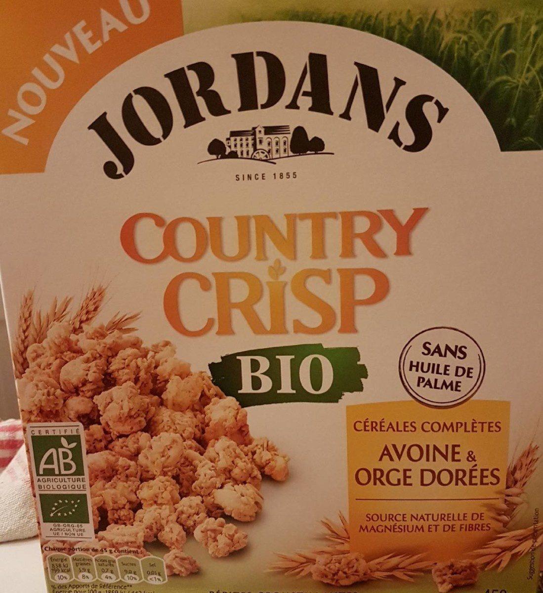Country crisp Avoine et Orge Dorée BIO - Produit - fr