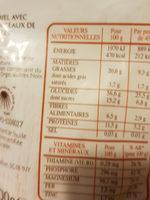 Granola aux amandes, noix du bresil et noisettes - Informations nutritionnelles - fr