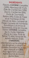 Frusli fruits rouges - Ingredienti - fr