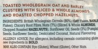 Low sugar granola almond and hazelnut - Ingrédients - fr