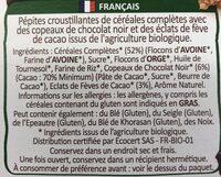 Country Crisp - Dark Chocolate & Cocoa Nibs - Ingrediënten