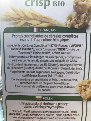 Muesli - Ingrédients - fr