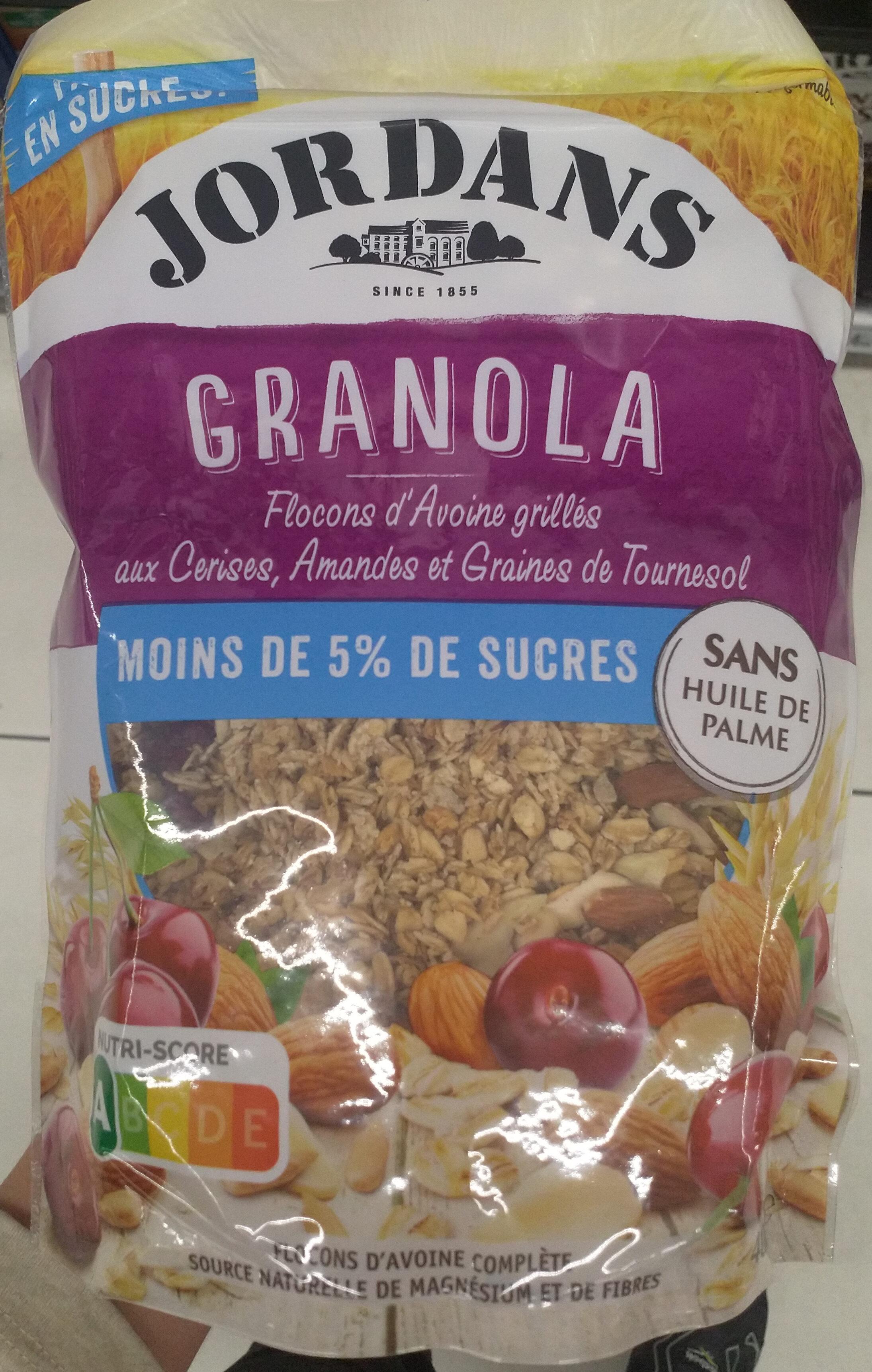Granola céréales complètes Cerise, amande & graine de tournesol - Produit - fr